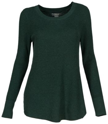 Natural Reflections Long-Sleeve Rib-Knit Leggings Sweater for Ladies - Pine Grove - M