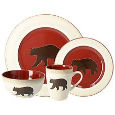 White River Country Lodge 16-Piece Stoneware Set Image