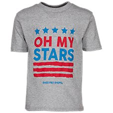 10930023 Bass Pro Shops Oh My Stars T-Shirt for Toddlers or Kids. Heather Gray