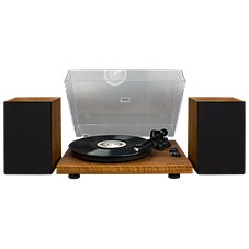 Crosley C62 Turntable with Speakers Shelf System