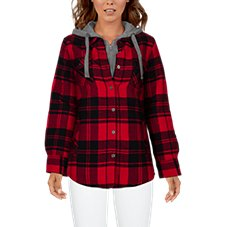Natural Reflections Flannel Shirt Jacket for Ladies Image