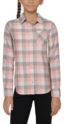 .Bass Pro Shops Long-Sleeve Flannel Shirt for Toddlers or Girls - Pink/Grey Check - 3T
