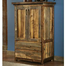 Mountain Woods Furniture Wyoming Collection Two-Drawer Armoire