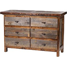 Mountain Woods Furniture Wyoming Collection Six-Drawer 52' Dresser