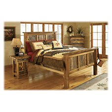 Mountain Woods Furniture The Wyoming Collection Rustic Wood Bed
