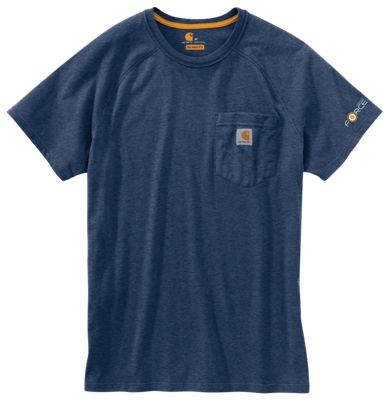 CARHARTT T-SHIRT CARHARTT Force Cotton Long Sleeve T-Shirt Carbon Heather