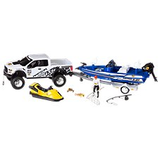 Bass Pro Shops Imagination Adventure Ford Raptor with Bass Boat Play Set for Kids Image