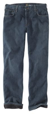 Carhartt Relaxed-Fit Holter Fleece-Lined Jeans for Men - Blue Ridge - 31x32