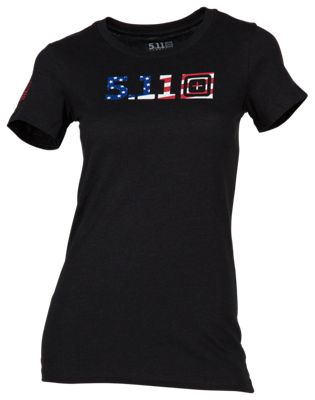 511 Tactical Legacy US Flag Logo Short Sleeve T Shirt for Ladies XL