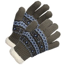 Natural Reflections Faux Fur Stretch Gloves for Ladies