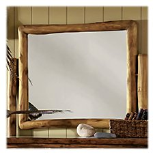 Mountain Woods Furniture Bronze Grizzly Furniture Collection Dresser Mirror