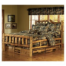 Mountain Woods Furniture Bronze Grizzly Bedroom Collection Snowload Bed