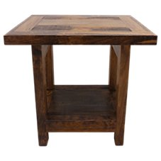 Mountain Woods Furniture Wyoming Collection Rustic Wood End Table
