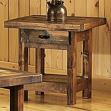 Mountain Woods Furniture Wyoming Collection End Table with Drawer