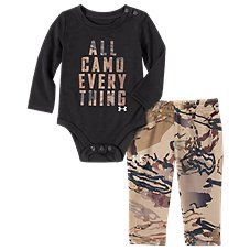 Under Armour All Camo Everything Long-Sleeve Bodysuit and Pants for Babies