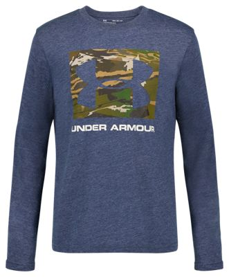 Under Armour Camo Fill Square Long-Sleeve T-Shirt for Kids – Wire Heather – S