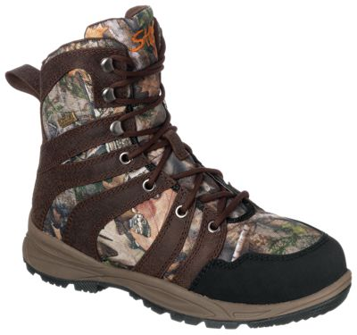 SHE Outdoor TimberTrek 1,000 Gram BONE-DRY Insulated Waterproof Hunting Boots for Ladies – Brown/TrueTimber Kanati – 7M