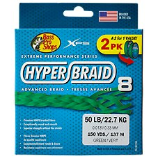 Bass Pro Shops XPS Hyper Braid 8 Fishing Line 2-Pack Image