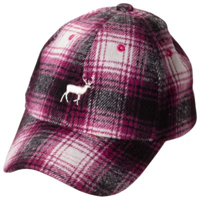 Quagga Embroidered Buck Flannel Cap for Kids