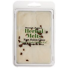 Swan Creek Candle Co. Herbal Melts Scented Melting Wax - Rum Raisin Glaze