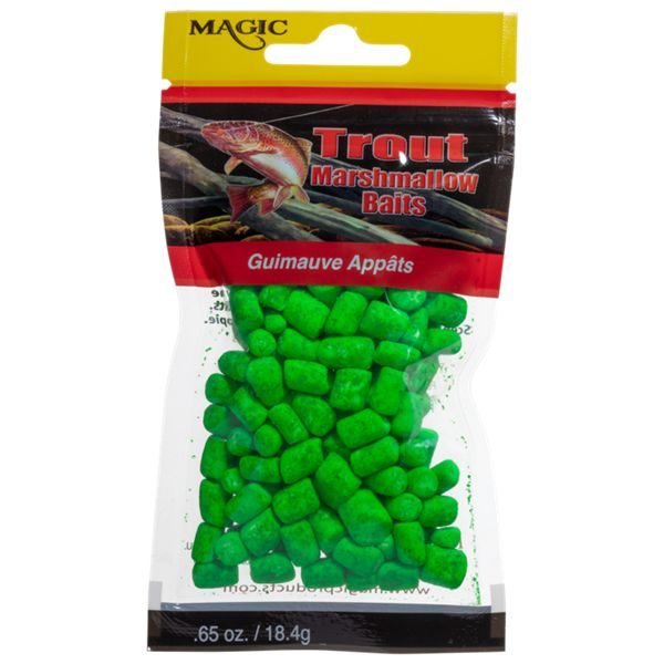 Magic Products Trout Micro Marshmallow Bait - Bright Green/Clam