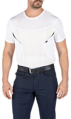511 Tactical CAMS Base Layer Short Sleeve T Shirt for Men White M