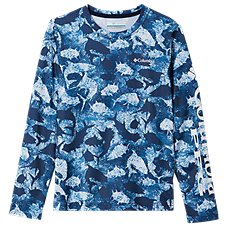 Columbia Super Terminal Tackle Inside Out Camo Long-Sleeve Shirt for Kids Image