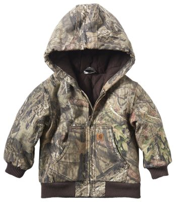 Carhartt Camo Active Flannel Quilt Lined Jacket for Toddlers Mossy Oak Break Up Country 3T