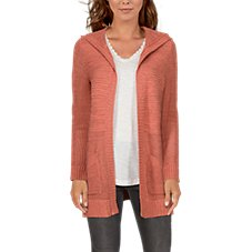 Natural Reflections Open-Knit Long-Sleeve Cardigan for Ladies Image