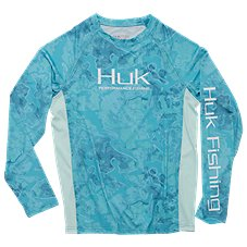 HUK Pursuit Camo Vented Long-Sleeve Shirt for Kids