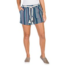 Natural Reflections Striped Pull-On Shorts for Ladies Image