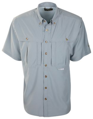 Drake Waterfowl Flyweight Wingshooter's Short-Sleeve Shirt for Men – Stone Gray – L