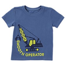 Life is Good Smooth Operator Short-Sleeve Crusher Tee for Toddlers Image