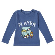 Life is Good Player Long-Sleeve Crusher Tee for Toddlers Image