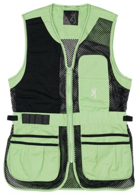 Browning Trapper Creek Mesh Shooting Vest for Ladies - Neo/Black - L
