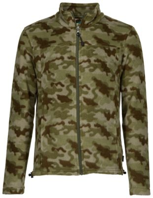 Bass Pro Shops Full-Zip Fleece Jacket for Boys – Camo – XL