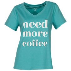 Natural Reflections Need More Coffee Short-Sleeve Sleep Shirt for Ladies