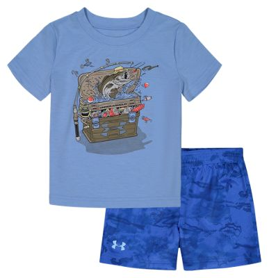 Under Armour Tackle Box Short-Sleeve T-Shirt and Shorts Set for Babies – 12 Months