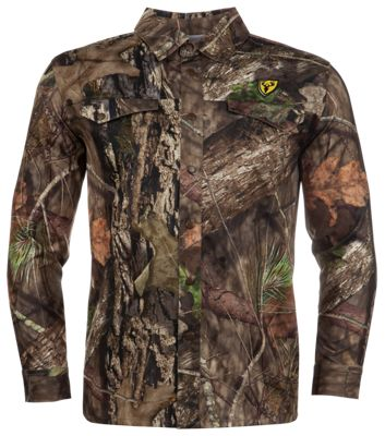Blocker Outdoors Shield Series Angatec Snap Long-Sleeve Shirt for Men - Mossy Oak Break-Up Country - L thumbnail