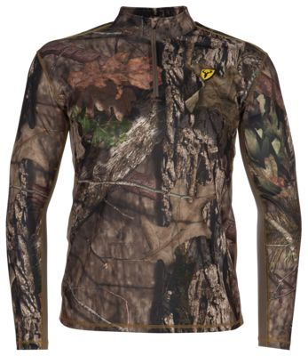 Blocker Outdoors Shield Series Angatec Quarter-Zip Performance Long-Sleeve T-Shirt for Men - Mossy Oak Break-Up Country - M thumbnail
