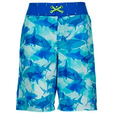 Free Country School of Sharks Board Shorts for Boys