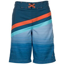 Free Country Coastal Stripes Board Shorts for Boys