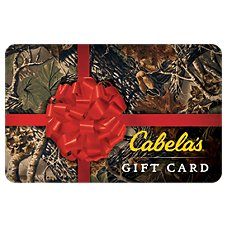 Cabela's Camo Red Bow Gift Card Image
