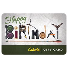 Cabela's Happy Birthday Gear Letters Gift Card Image