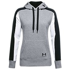 Under Armour Rival Fleece Graphic Color-Block Hoodie for Ladies