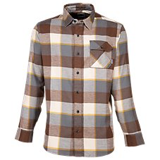 Ascend Textured Brawny Long-Sleeve Flannel Shirt for Men Image