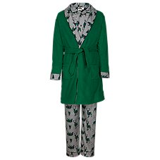 Outdoor Kids Animal Plaid Print 3-Piece Robe and Pajama Set for Babies, Toddlers, or Boys
