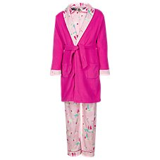 Outdoor Kids Woodland Creature 3-Piece Robe and Pajama Set for Babies, Toddlers, or Girls