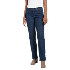 Natural Reflections Fleece-Lined Denim Pants for Ladies Image