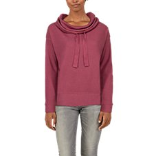 Natural Reflections Waffle Cowl-Neck Long-Sleeve Pullover for Ladies Image